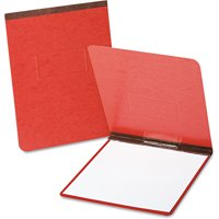 "(4 Pack) Oxford PressGuard Coated Report Cover, Prong Clip, Letter, 2"" Capacity, Red"