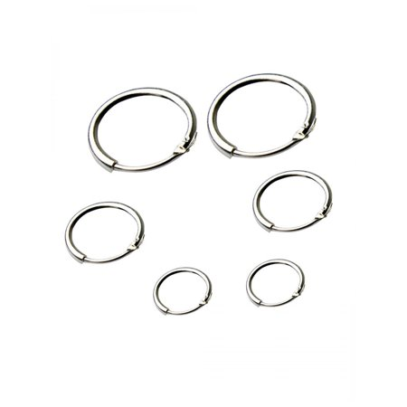 Earrings Round Small Sleeper Hoops Earrings 3 Pairs Earrings Hoop 8mm 10mm 12mm HITC