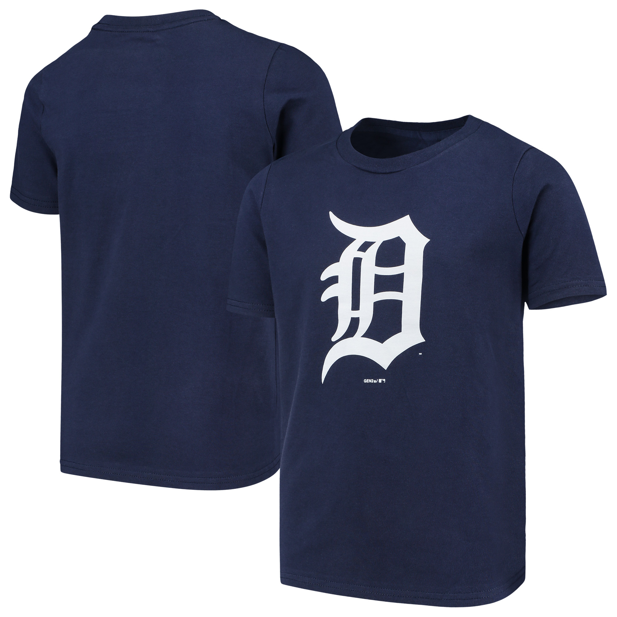 Detroit Tigers Youth Primary Team Logo T-Shirt - Navy