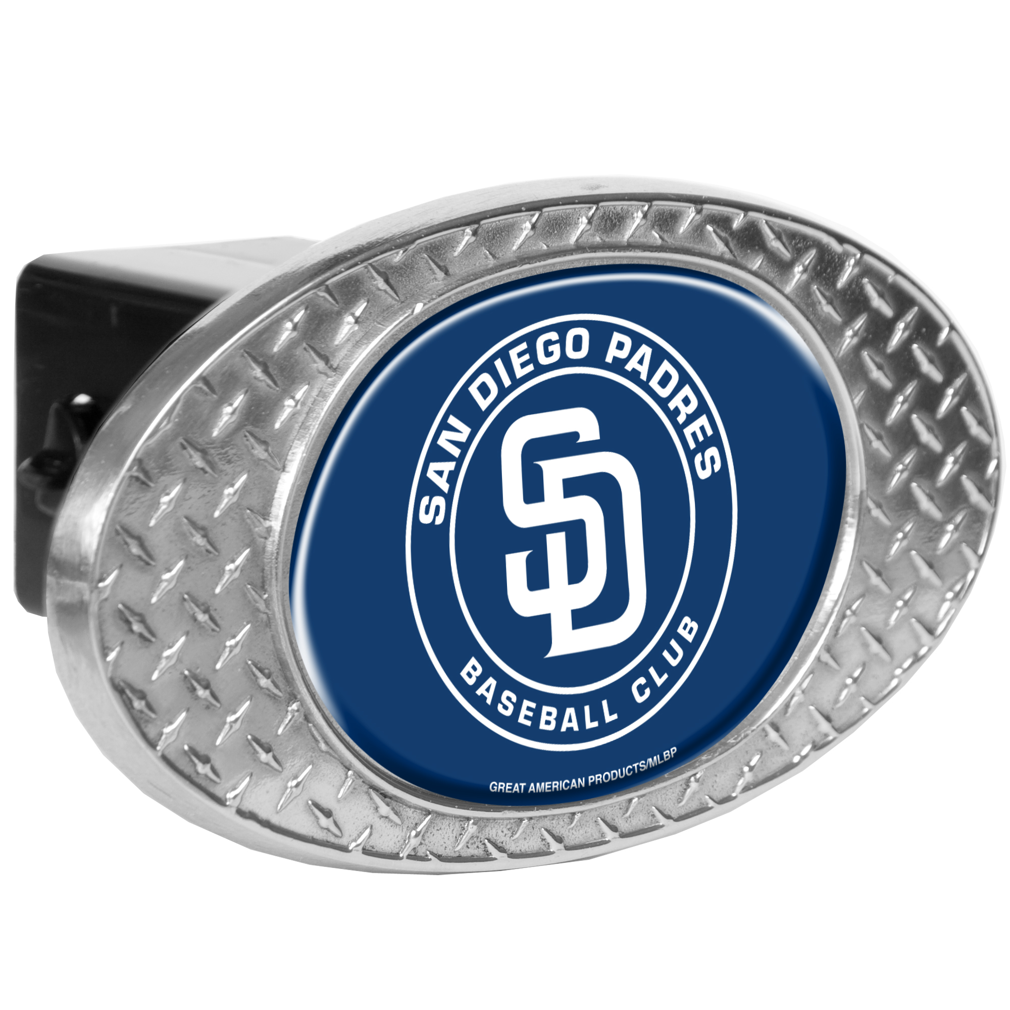 """San Diego Padres 2"""" Oval Skid Hitch Cover - No Size"""