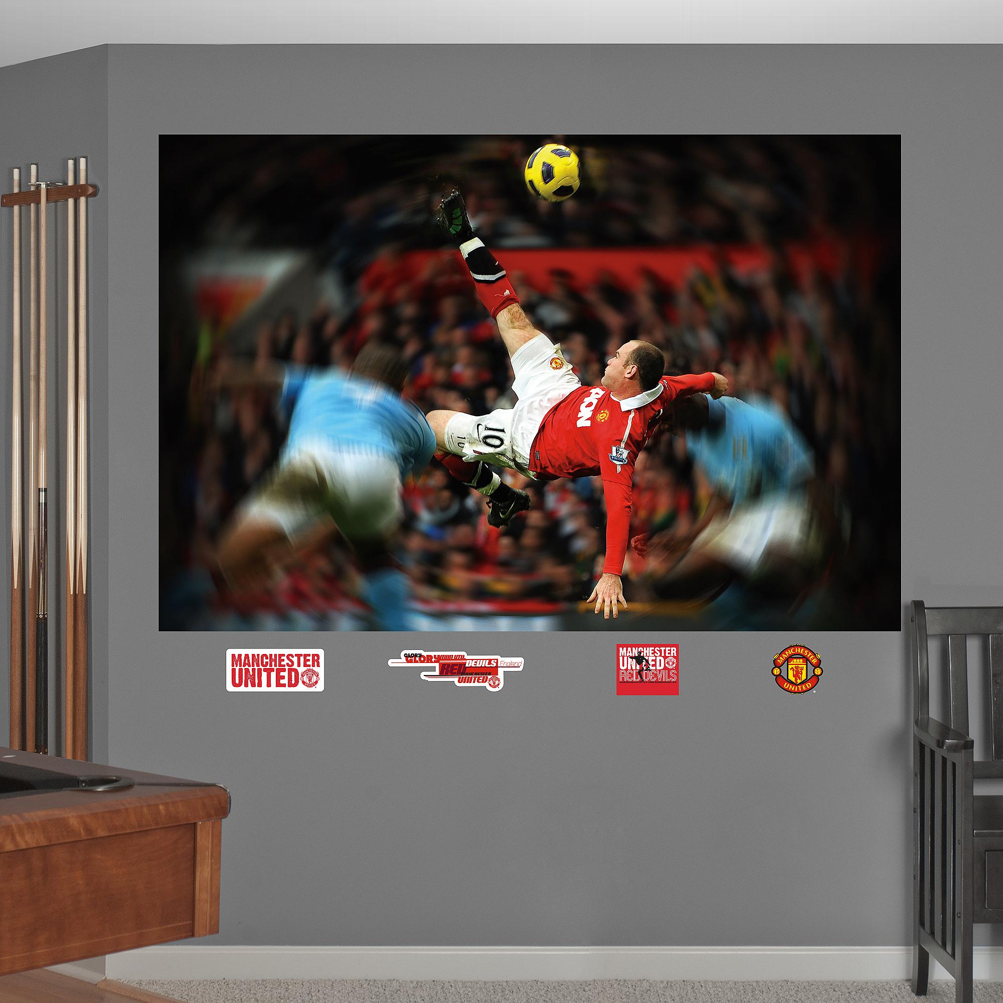 Wayne Rooney Bicycle Kick Mural 66-66056