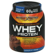 Body Fortress Cookies 'N Creme Super Advanced Whey Protein Powder, 1.95 lb