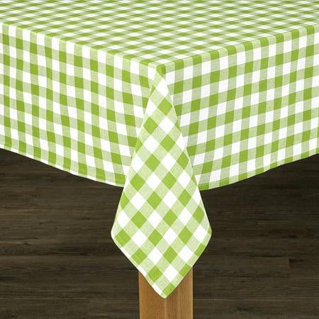 Conventry Green Buffalo Check 100% Cotton Tablecloth - Green Tablecloth