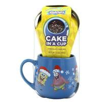 Frankford Spongebob Cake In A Cup, Chocolate Cake, 3oz
