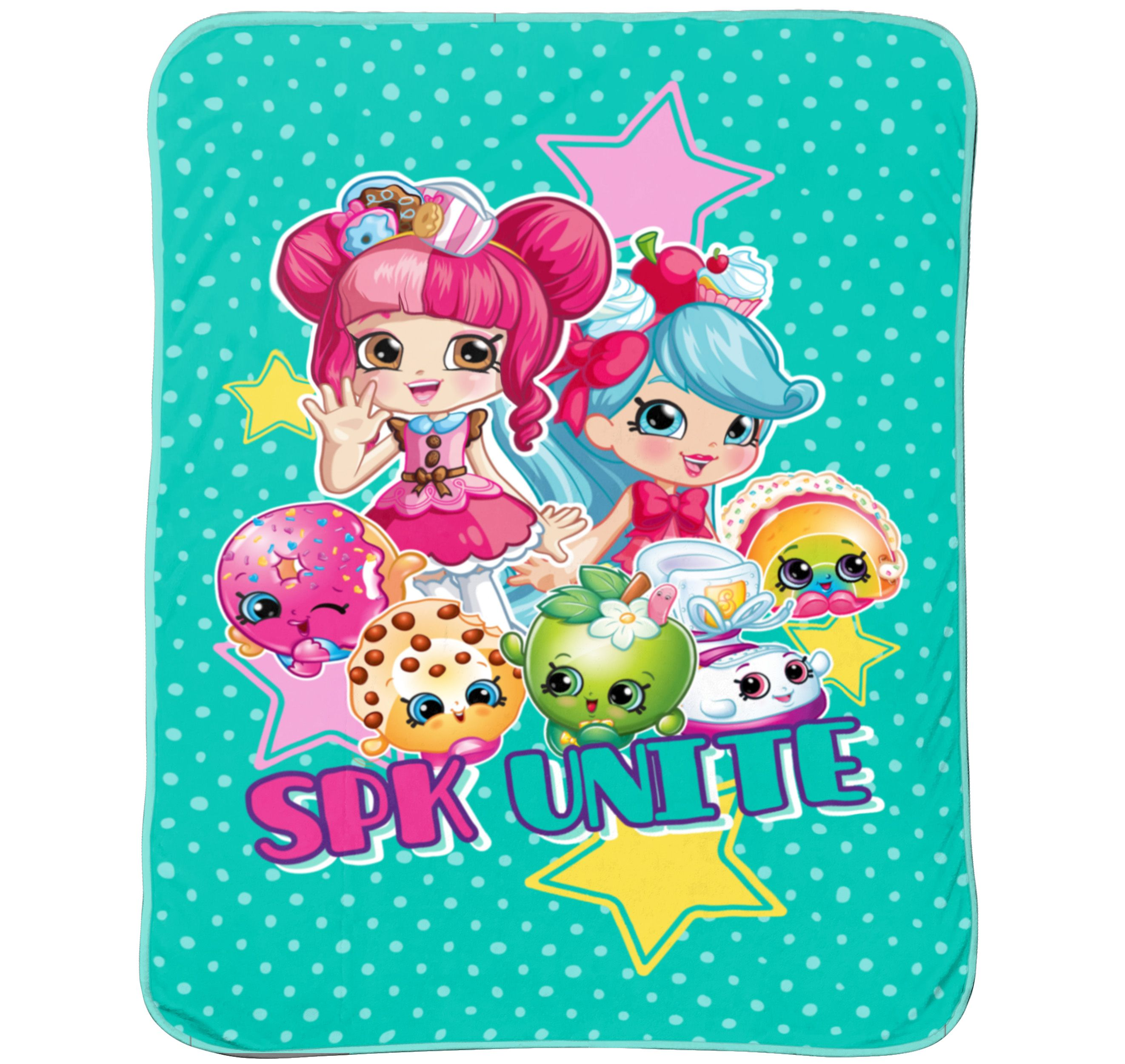 "Shopkins 'Better Together' 62"" x 90"" Plush Blanket, 1 Each"