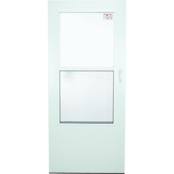 Aluminum Storm Door larson value-core mid view aluminum storm door - walmart