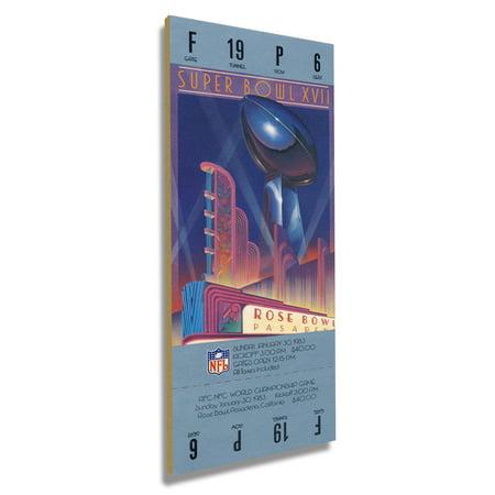 Washington Redskins Commemorative Super Bowl (Washington Redskins Super Bowl XVII Commemorative Mini-Mega Ticket - No Size)