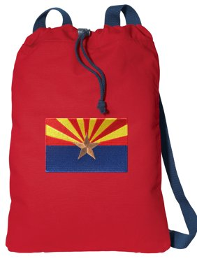 64c49671a34e Product Image Canvas Arizona Drawstring Bag DELUXE Arizona Flag Cinch  Backpack