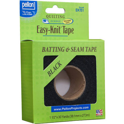 Pellon Easy Knit Tape, Black, 30 Yards