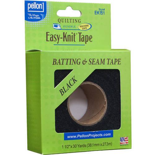 Pellon Easy Knit Tape, Black, 30 Yards