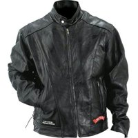 Diamond Plate Buffalo Leather Motorcycle Jacket GFCRLTRL