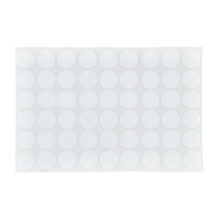 Furniture Polish Surface Screw Hole Stickers Covers Sheet Pure White 54 in 1