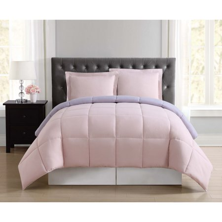 Truly Soft Everyday Blush and Lavender Reversible Twin XL Comforter Set ()