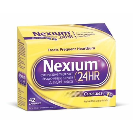 Nexium 24Hr  20Mg  42 Ct  Delayed Release Heartburn Relief Capsules  Esomeprazole Magnesium Acid Reducer