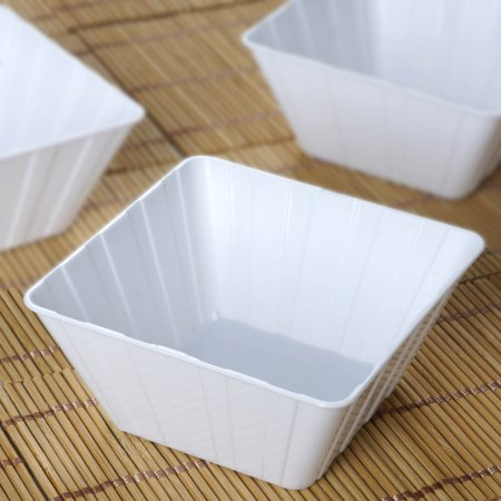 12 Oz White Plastic Bowl - BalsaCircle 12 pcs 7 oz. Disposable Striped Plastic Bowls for Wedding Reception Buffet Catering Tableware Creative Food Display