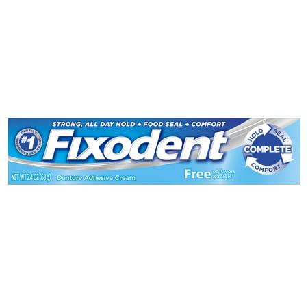 (3 pack) Fixodent Complete Free Denture Adhesive Cream, 2.4 oz