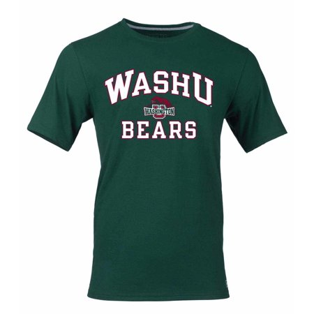 Washington-St Louis Bears Adult NCAA Arch and Logo Tagless T-Shirt  - Green](Greek Arch)