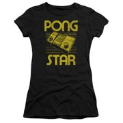 Atari - Star - Juniors Teen Girls Cap Sleeve Shirt - Small