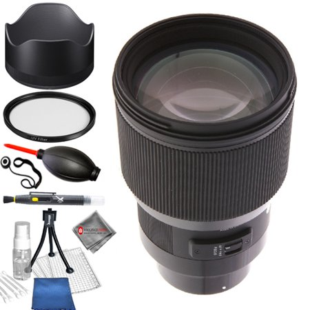 Sigma 85mm f/1.4 DG HSM Art Lens for Sony E #321965 STARTER KIT with Tulip Hood Lens, UV Filter, Cleaning Pen, Lens Cap Keeper, Blower, Microfiber Cloth and Cleaning