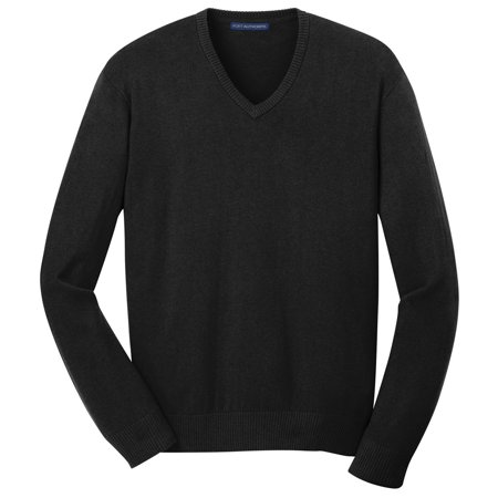 Mens Classic V-neck Sweater - Port Authority Men's Comfort Versatile V-Neck Sweater