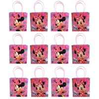"""Minnie Mouse 12 Authentic Licensed Party Favor Reusable Medium Goodie Gift Bags 6"""""""