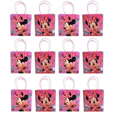 Minnie Mouse 12 Authentic Licensed Party Favor Reusable Medium Goodie Gift Bags - Minnie Mouse Ears Diy