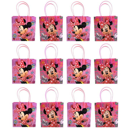 Minnie Mouse 12 Authentic Licensed Party Favor Reusable Medium Goodie Gift Bags 6