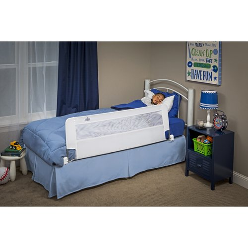 regalo swing down 56inch extra long safety bed rail adjustable to fit twin
