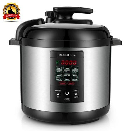 ALBOHES Multi Pot 5.5 Qt Programmable Pressure Cooker, Pressure Cook, Slow Cook, Rice Cooker, Poach, Steam, Simmer, Bake
