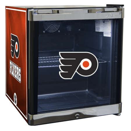 NHL Refrigerated Beverage Center 1.8 cu ft Philadelphia Flyers by