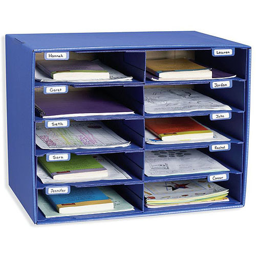 Classroom Keepers Mail Box and Literature Organizer, 10 Slot Sorter