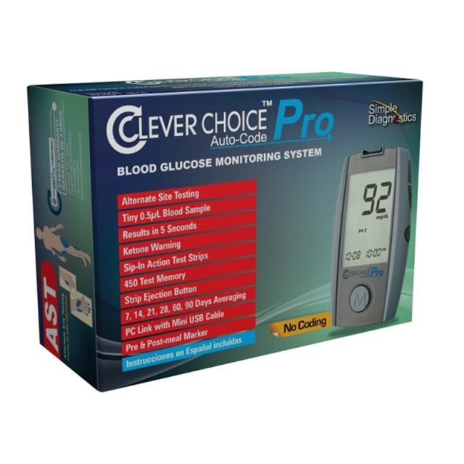 Clever Choice CLEPROM Auto-Code Pro Blood Glucose Monitoring System