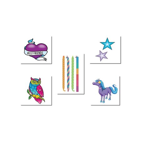 Tween Girl Temporary Tattoo Pack