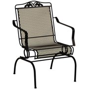 Arlington House Wrought Iron Outdoor Action Chair, Charcoal