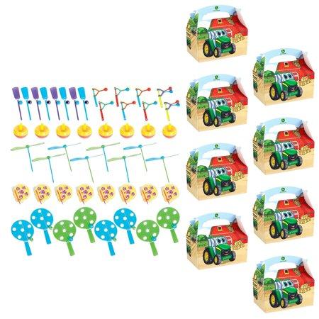 John Deere Johnny Tractor Favor Kit - 8 Guests - Tractor Favors