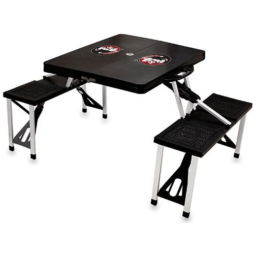 Black NCAA Folding Picnic Table NCAA Team: Texas Longhorns