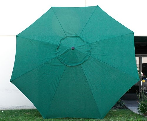 New MTN G 9u0027 FT Market Patio Garden Umbrella Replacement Canopy Canvas  Cover Green