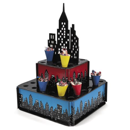 Superhero City Tray W Cones(1) - Party Cits