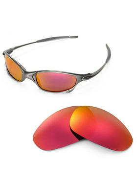 cceba48726 Product Image Walleva Fire Red Replacement Lenses for Oakley Juliet  Sunglasses