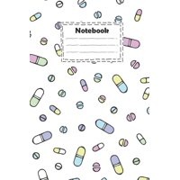 Notebook: pharmacy technician with hand drawn pills with white background: pharmacy technician Notebook for write ideas and gift for your loved And much more ( size 6x9 inches college ruled ) (Paperba