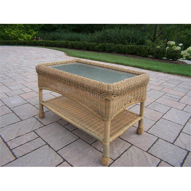 Oakland Living Corporation 90027-CT-HN Resin Wicker Coffee Table