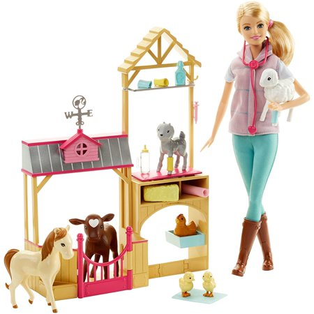 Glyby Careers Farm Vet Doll Playset Barbie Careers Farm Vet Doll