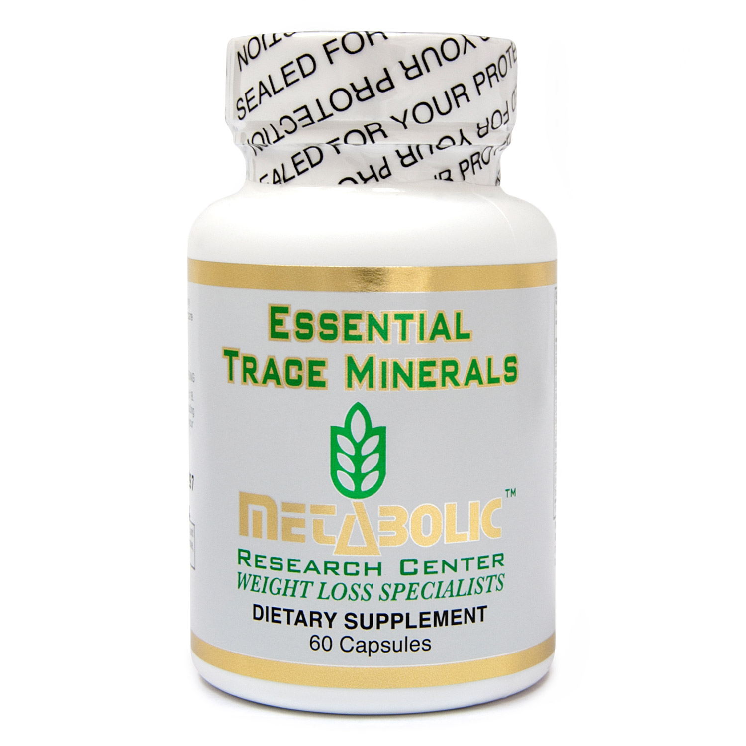 Metabolic Research Center Essential Trace Minerals - Dietary Supplement, 60 count