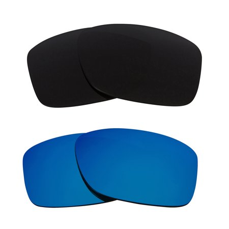 JUPITER SQUARED Replacement Lenses Polarized Black & Blue by SEEK fits OAKLEY
