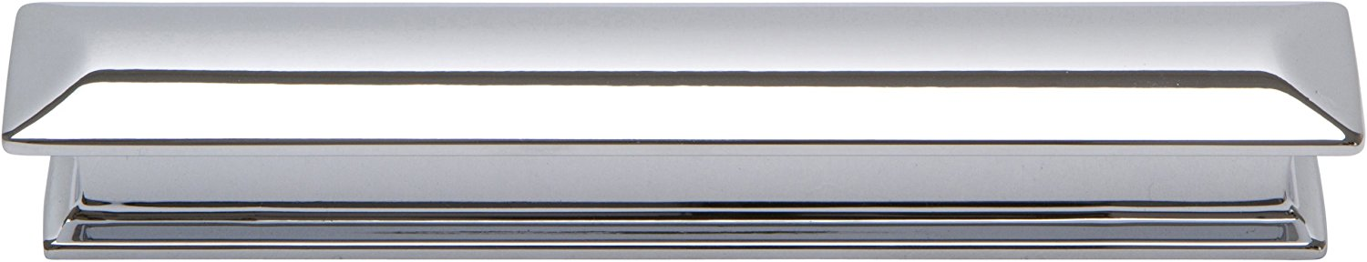 349-CH Alcott 6.5-Inch Square Pull, Polished Chrome, Designed for use with drawer fronts and cabinets By Atlas Homewares by