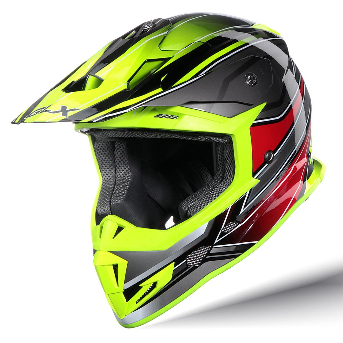 GLX Adult Off Road MX Motocross ATV Dirt Bike Helmet DOT Approved (M)