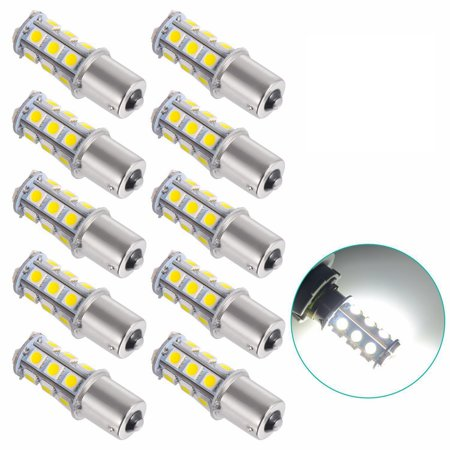 10X 1156 BA15S 5050 18 SMD LED Camper Trailer Bulbs Interior Light 12V (Cool White) 1156 Led 12v Bulb