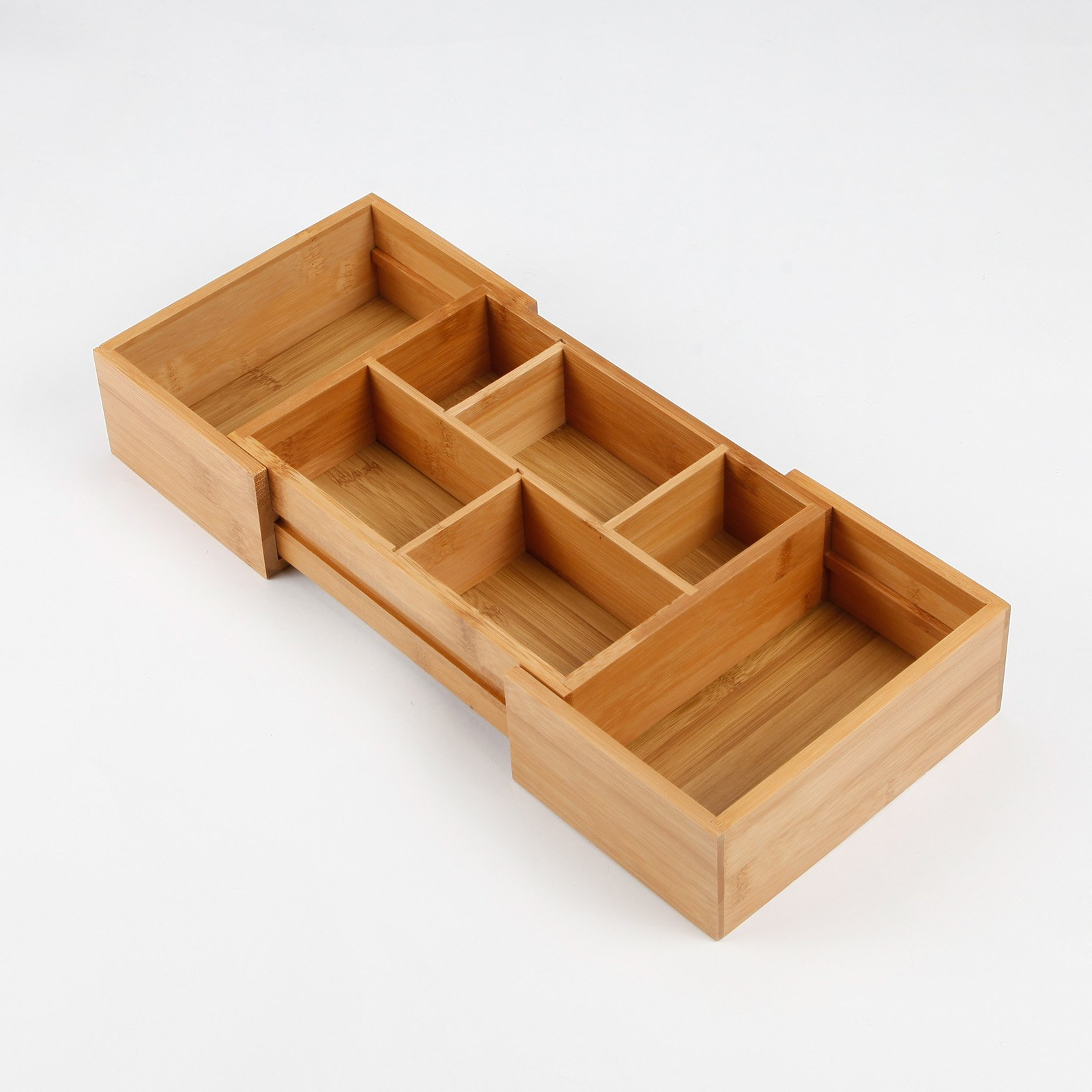 Lipper Bamboo Expandable Drawer Organizer with 2 Dividers - 16W in.