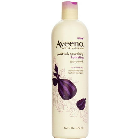 Aveeno Natural Body Wash - AVEENO Active Naturals Hydrating Body Wash, Fig + Shea Butter 16 oz (Pack of 4)