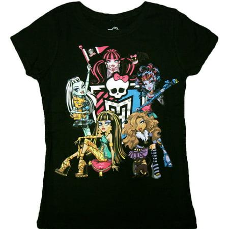 Monster High - Monster High Girls Juniors T-Shirt (Monster High Clothes For Girls)